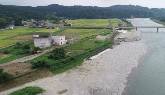 神通川・葛原地区堤防強化及び河道内整備工事